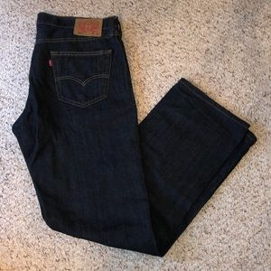 LEVIS dark denim jeans 36x34- LIKE NEW